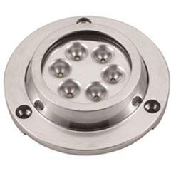 LED Underwater Light Round Surface Mount Stainless Steel White 14.2W