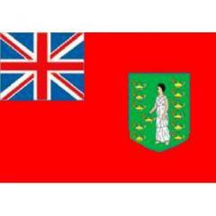 British Virgin Islands Flag Red Background 100 cm x 150 cm