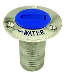 Water Deck Fill w/Blue Nylon Cap 316 Stainless Steel 1.5""