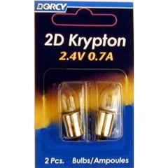 Krypton Bulb 2D 0.7A 2.4V 2/pk