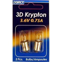 Krypton Bulb 3D .75A 3.6V