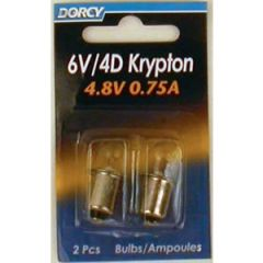 Krypton Bulb 4D 0.75A 6V 2/pk