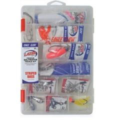 Eagle ClawStriped Bass Tackle Kit, 36pc Tackle & Rigs
