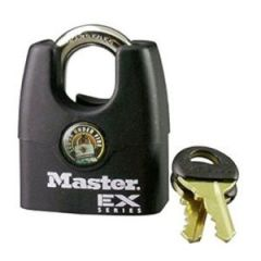 "Shrouded Master Lock Padlock, 1-3/4"" Laminated Steel Body"