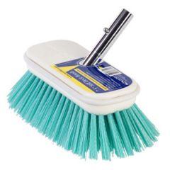 """Deck Brush Stiff Aqua Blue Bristle 7 1/2"""" (190 mm)"""