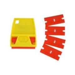 Double Edge Plastic Scraper 5/pk