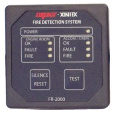 Two Zone Fire Detector Monitor, 10-30v