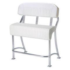 """Classic Aluminum Leaning Post, 39"""" Wide w/Back Rest"""
