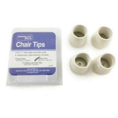 "Rubber Tips White 1"" 4/pk"