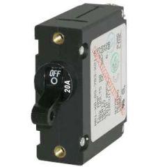 Circuit Breaker A Series Black Toggle Single Pole 20A