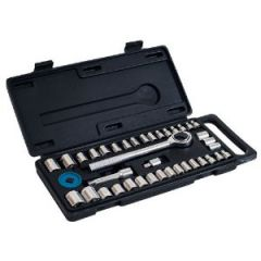 Socket Set Metric & SAE Drop Forged Sockets 40 Piece