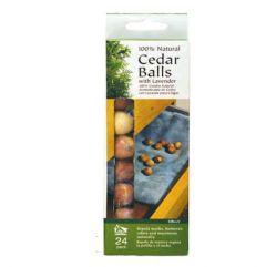 Natural Cedar Balls, 24/pk