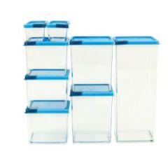 Storage Container Set w/Lids:2 X 115ml;3 X 530ml;1 X 800ml;1 X 1070ml;1 X 17ml