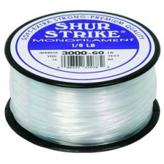 Shur Strike Clear Monofilament 60lb, 1/8lb Spool