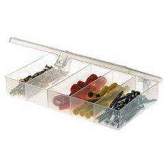 Plano Micro Magnum Tackle Utility Box, 8 Compartment Clear