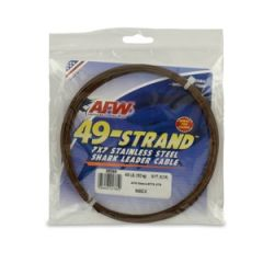 AFW Shark Leader Wire 49 Strand S.S. Camo 275 lb/125 kg 30'
