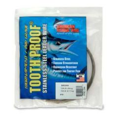 AFW ToothProof SS Leader Wire #10, 124LB Camo Brown 1/4lb Coil
