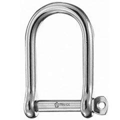 D Shackle Large Opening 316 Stainless Steel 8 mm