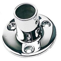 Round Base Tube Fitting 316 Stainless Steel 90 Degree 7/8""