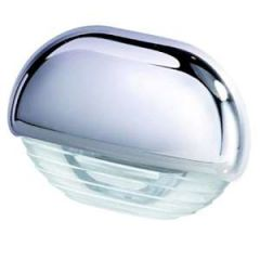 LED Courtesy Lamp White w/Chrome Cap 12/24V