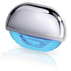 LED Courtesy Lamp Blue w/Chrome Cap 12/24V