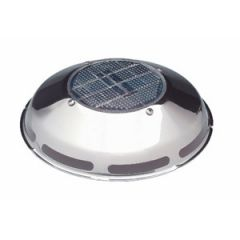 Solar Powered Ventilator Fan Day/Night Plus Stainless Steel Deck Mount 3""