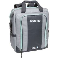 Soft-Sided Switch Backpack, Gray/Seafoam 28 Can Capacity