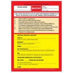 Mayday Laminated Reference Card