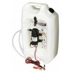 Oil Change System w/Flat tank 3.5 gal & Pump 12V