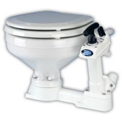 Twist 'n' Lock Manual Toilet Regular Bowl, Right or Left Pump Installation