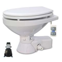 Quiet Flush Toilet Regular Bowl Sea Water, 12V