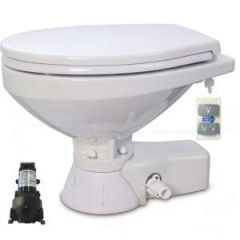 Quiet Flush Toilet Regular Bowl w/Pump 24V