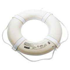 "Lifebouy Ring Urethane Foam w/Straps White 30"""