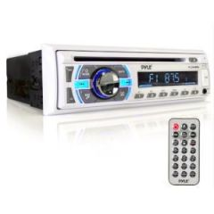 Marine Stereo Radio, White w/Bluetooth & Hands-Free Call Answer
