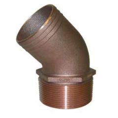 """2"""" NPT Bronze 45 Degree Pipe to Hose Fitting"""