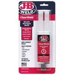ClearWeld Quick Setting Epoxy Clear Syringe