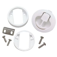 Slam Latch Non Corrosive White 2""