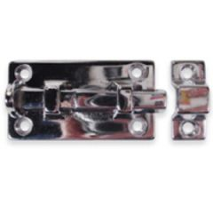 Barrel Bolt Heavy Duty Chrome Plated Brass 2""