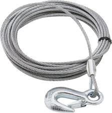 "Winch Cable w/Snap Hook 3/16"" x 25 ft"