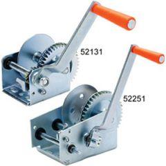 Trailer Winch Manual Zinc Plated Steel w/Strap 1200 lb