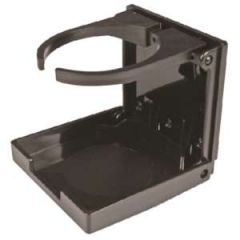Black Folding Drink holder with Adjustable Arms