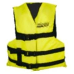 Multisport Life Vest Type III w/3 Straps & Open Sides Adult XL Yellow