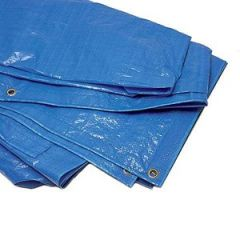 Tarpaulin Polyethylene Woven Blue 12 ft x 22 ft