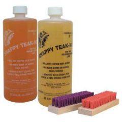 Teak Cleaner & Brightener Kit w/Brush Liquid 2 qt
