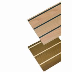 Laminate Modern HPL Teak /Cream Strip 0.8 mm 2960 x1300