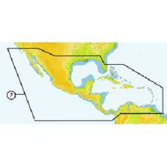 C-Map Max Wide SD Card NAM027 Caribbean & Central America