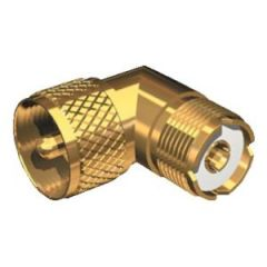 Adapter PL-259 to SO-239 90 Degrees, Gold Plated