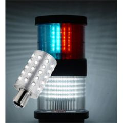 LED Navigation Bulb BAY15D 3 Color 3.5W 10-30V