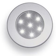 Ceiling Light, 15-LED Aluminum 70mm Round, Warm White 10-30V