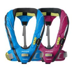 DeckVest Cento Junior 100N Automatic Inflatable w/Harness, Pacific Blue